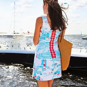 Lilly Pulitzer Delia Dress Watch Out Lighthouse